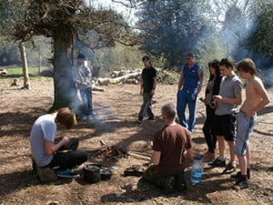Trainees on the Woodcraft Course
