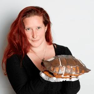 stephanie west with tortoise